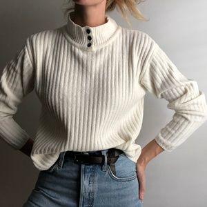 VINTAGE / chenille crop mock neck pullover